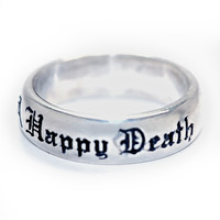 """""""A Good Life, Happy Death"""" Ring by Blue Bayer Design"""