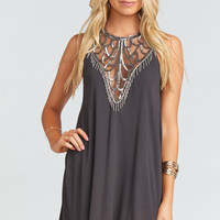 Liza Dress ~ Beadiful Charcoal