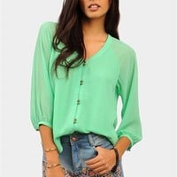 Tempted Blouse - Mint