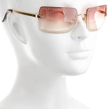 Strass Rimless Sunglasses
