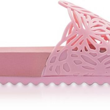Sophia Webster Baby Pink PVC Lia Butterfly Slide Sandals