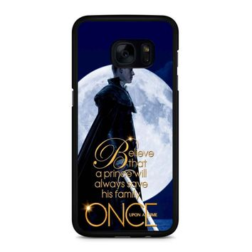Once Upon A Time Believe A Prince Samsung Galaxy S7 Edge Case