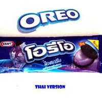 NEW Cookies Oreo with Blueberry Flavor 29 G. X 4 Packs