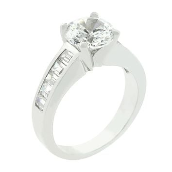 Classic Baguette Anniversary Ring Size 5
