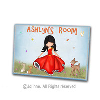 Nursery door sign, personalized door sign, nursery art, girls room art, dancing girl