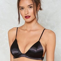 Saving All My Love Satin Bralette