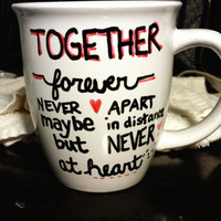 Long Distance Relationship or Friendship Pick Your City/State 14 oz Mug