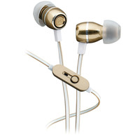 Ihome Noise-isolating Metal Earbuds With Microphone (champagne)