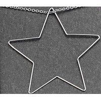 White Gold Dipped Star Necklace