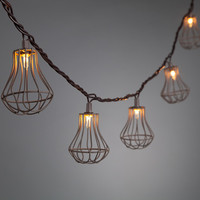 Wire Cage String Light 10CT