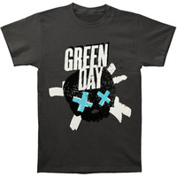 Green Day Men's  Heart Slim Fit T-shirt Grey