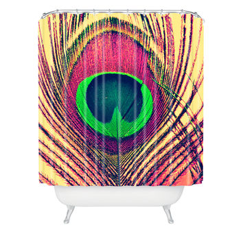 Shannon Clark Peacock 2 Shower Curtain