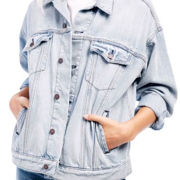 Free People Denim Trucker Jacket | Nordstrom