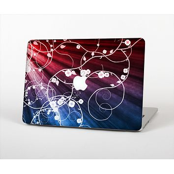 The Blue and Red Light Arrays with Glowing Vines Skin Set for the Apple MacBook Air 11""