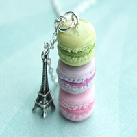 french macarons necklace