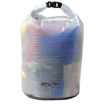 Dry Pak Roll Top Dry Gear Bag - 9-1/2 x 16 - Clear