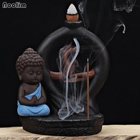 Small Buddha Backflow Tower Incense Cones Burner