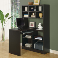 Monarch Specialties Cappuccino Hollow-core Left Or Right Side Corner Desk