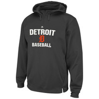 Detroit Tigers Majestic All In Effort Therma Base Hoodie – Gray