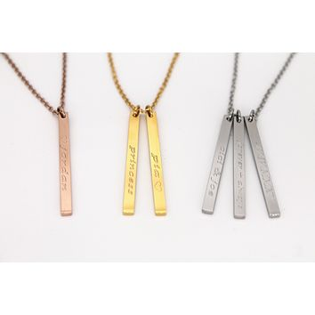 Layered Bar Necklace V
