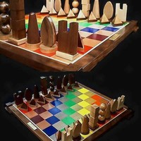 Handmade Chess Set on Etsy, custom carved chess pieces   Celebrates the Science of Sir Isaac Newton