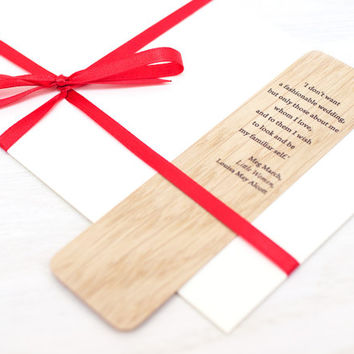 Bookmark Favors, Wedding Bookmark, Personalized Bookmark, Save the Date Gift, 3-Set, Bridal Shower Gift, Wood Bookmark, Custom Bookmark,