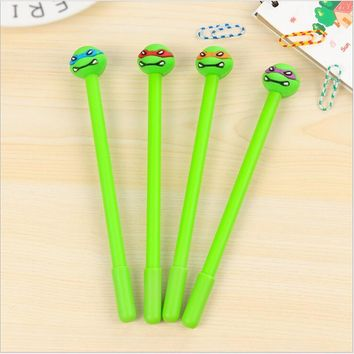 2pcs/ lot Japan classic Cartoon Teenage Mutant Ninja Turtles gel pen/Good quality/School supplies/stationery/papelaria WJ0673