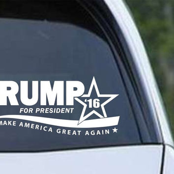 Donald Trump 2016 Make America Great Again Die Cut Vinyl Decal Sticker