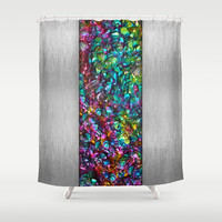 Beauty Comes From Within (Mineral & Metal Abstract) Shower Curtain by soaring anchor designs ⚓ | Society6