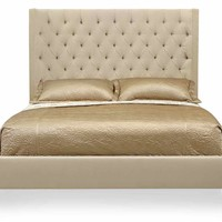 Salon Upholstered Panel Bed | Queen