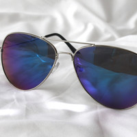 Riley Aviator Sunglasses (blue)