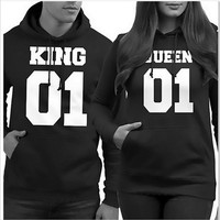 Print Hats Long Sleeve Couple Hoodies [6362879812]