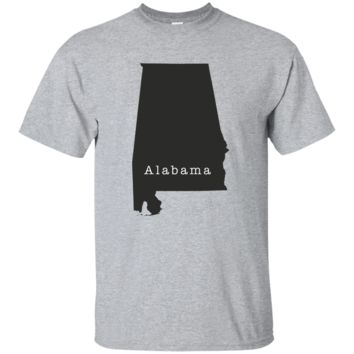 Alabama State Outline T Shirt 4 - Great Gift for AL Pride Tee or T-Shirt
