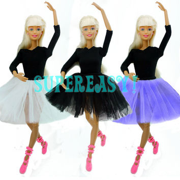 Cute Dancing Costume Ballet Dress Lace Skirt Clothes For Barbie Doll Girls Love Christmas Gift Toy