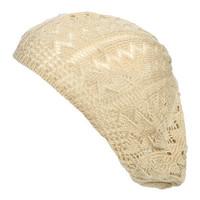 Zigzag Lightweight Knit Beret | Shop Trending Now at Wet Seal