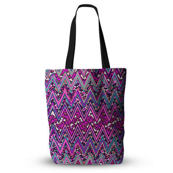 "Nika Martinez ""Pink Electric Chevron"" Everything Tote Bag"