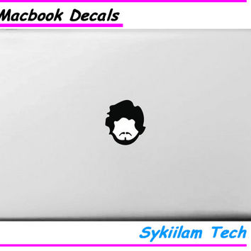 Cool Man Head for Apple Logo Sticker for MacBook Air 11 13 Pro 13 15 17 Retina Creative Personal Local Vinyl Decal Skin Laptop