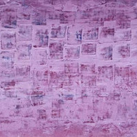 "Abstract horizontal wall decor minimalist Abstract Painting pallet knife painting purple pink wall Art on Canvas Art 34""X13"""