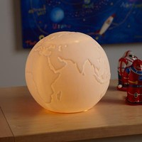 Globe Matte Porcelain Nightlight - The Land of Nod