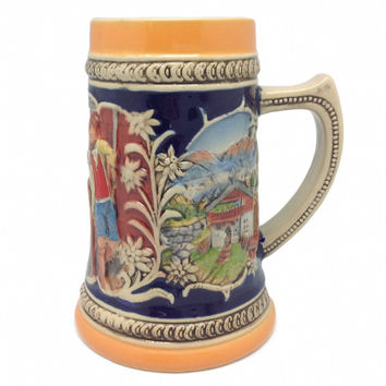 German Gift Beer Mug Alpine Pub