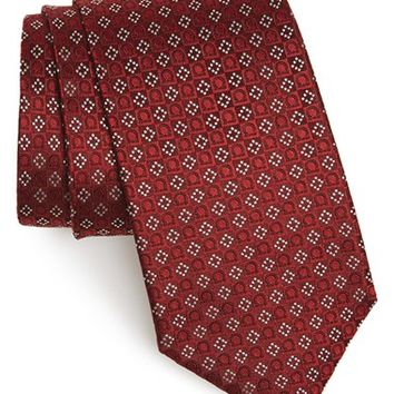 Men's Salvatore Ferragamo Gancini Grid Silk Tie, Size Regular