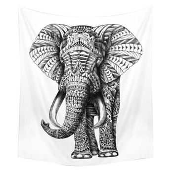 Large Elephant Towel, Elephant Tapestry, Wall Decor, 150*130cm