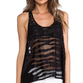 Alexis Brill Racerback Tank in Black
