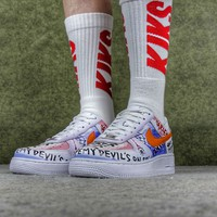 VLONE x Nike Air Force 1 One Low Customs Pauly Running Sport Casual Shoes 923088-100 Sneakers
