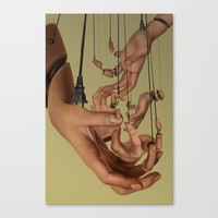 Puppeteer Canvas Print by Brittany Huang
