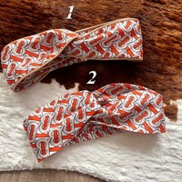 Burberry Monogram Print headband
