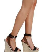 Sale- Black Ocean Side Wedges
