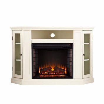 Claremont Convertible Media Electric Fireplace - Ivory
