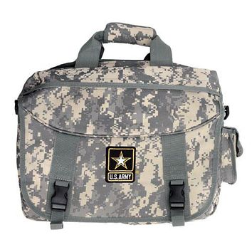 Official Licensed U.S. Army Strong Digital Camo Messenger Style Bag - NWT