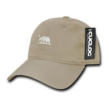Cali Bear Khaki Dad Hat by Cuglog